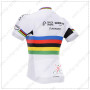 2015 Team QUICK STEP UCI Champion Bicycle Jersey White Rainbow