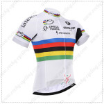 2015 Team QUICK STEP UCI Champion Cycling Jersey White Rainbow