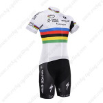 2015 Team QUICK STEP UCI Champion Cycling Kit White Rainbow