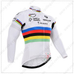 2015 Team QUICK STEP UCI Cycling Long Sleeves Jersey White