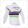 2015 Team QUICK STEP UCI Riding Long Sleeves Jersey White