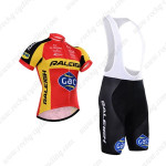 2015 Team RALEIGH Cycling Bib Kit Red Yellow