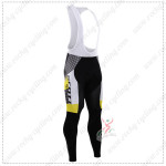 2015 Team SCOTT Cycling Long Bib Pants Tights Black Yellow