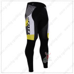 2015 Team SCOTT Cycling Long Pants Tights Black Yellow