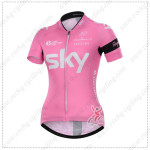 2015 Team SKY Women's Cycling Jersey Pink