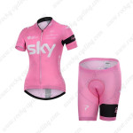 2015 Team SKY Women's Cycling Kit Pink maillot cycliste