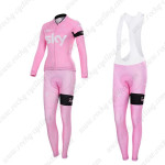 2015 Team SKY Women's Cycling Long Bib Kit Pink ropa de ciclismo