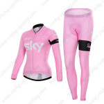 2015 Team SKY Women's Cycling Long Kit Pink ropa de ciclismo2015 Team SKY Women's Cycling Long Kit Pink ropa de ciclismo