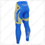 2015 Team Tinkoff SAXO BANK Bicycle Long Pants Tights Yellow Blue