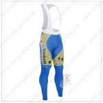 2015 Team Tinkoff SAXO BANK Cycling Long Bib Pants Tights Yellow Blue