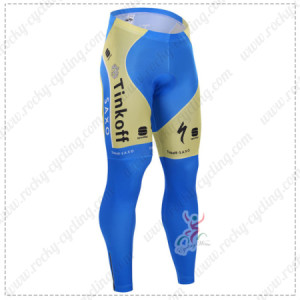 2015 Team Tinkoff SAXO BANK Cycling Long Pants Tights Yellow Blue