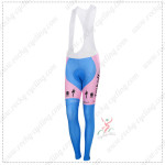 2015 Team Tinkoff SAXO BANK Women's Cycling Long Bib Pants Pink Blue