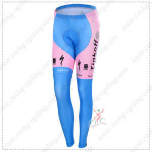 2015 Team Tinkoff SAXO BANK Women's Cycling Long Pants Pink Blue