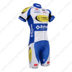 2015 Team Topsport Cycling Kit White Blue Yellow