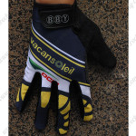 2015 Team Vacansoleil Winter Cycling Thermal Fleece Gloves Dark Blue