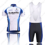 2009 Team SUBARU Cycling Bib Kit White Blue
