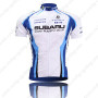 2009 Team SUBARU Cycling Jersey White Blue