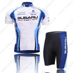 2009 Team SUBARU Cycling Kit White Blue