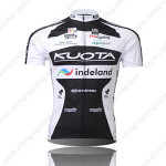 2010 KUOTA indeland Cycling Jersey Black White