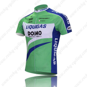 2010 LIQUIGAS Bike Jersey Green Blue