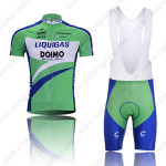 2010 LIQUIGAS Cycling Bib Kit Green Blue