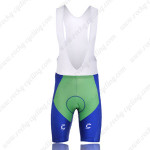 2010 LIQUIGAS Cycling Bib Shorts Green Blue