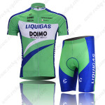 2010 LIQUIGAS Cycling Kit Green Blue