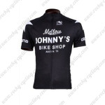 2010 Mellow Johnny's Cycling Jersey Black White