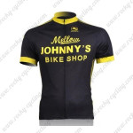 2010 Mellow Johnny's Cycling Jersey Black Yellow