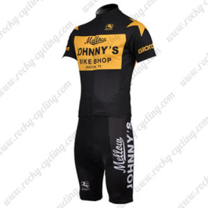 2010 Mellow Johnny's Cycling Kit Yellow Black