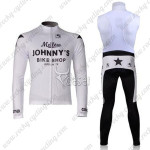 2010 Mellow Johnny's Cycling Long Bib Kit White