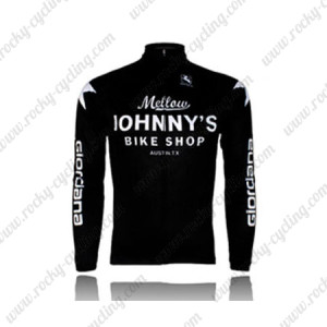 2010 Mellow Johnny's Cycling Long Jersey Black White