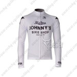 2010 Mellow Johnny's Cycling Long Jersey White
