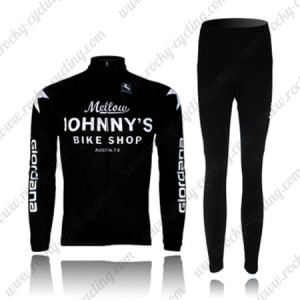 2010 Mellow Johnny's Cycling Long Kit Black White