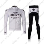2010 Mellow Johnny's Cycling Long Kit White