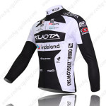 2010 Team KUOTA Bicycle Long Jersey Black White