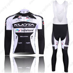 2010 Team KUOTA Cycling Long Bib Kit Black White