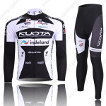 2010 Team KUOTA Cycling Long Kit Black White