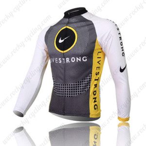 2010 Team LIVESTRONG Bicycle Long Jersey Grey White