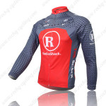 2010 Team RadioShack Bicycle Long Jersey Grey Red