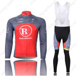2010 Team RadioShack Cycling Long Bib Kit Grey Red
