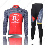 2010 Team RadioShack Cycling Long Kit Grey Red