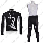 2011 HTC Highroad Cycling Long Bib Kit Black