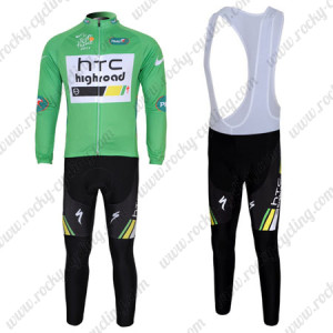 2011 HTC Highroad Cycling Long Bib Kit Green