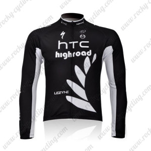 2011 HTC Highroad Cycling Long Jersey Black