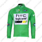 2011 HTC Highroad Cycling Long Jersey Green