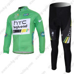 2011 HTC Highroad Cycling Long Kit Green