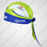 2011 LIQUIGAS Cannondale Cycling Bandana Head Scarf Green Blue