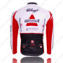 2011 Team Bissell Biking Long Jersey White Red