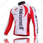 2011 Team Bissell Cycle Long Jersey White Red